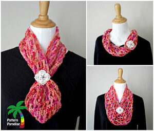 X Stitch Hugs & Kisses Cowl
