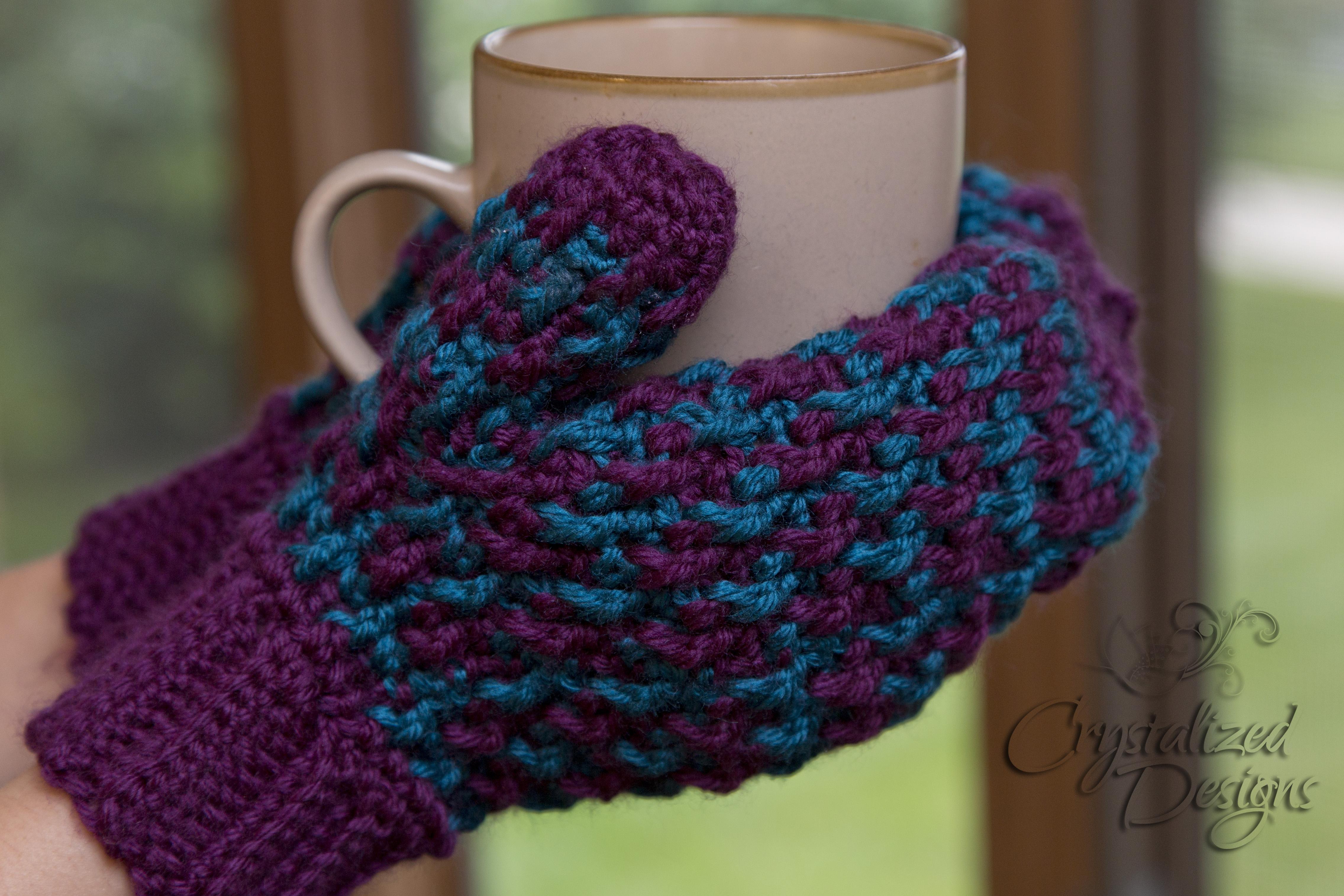 color mitten crochet pattern