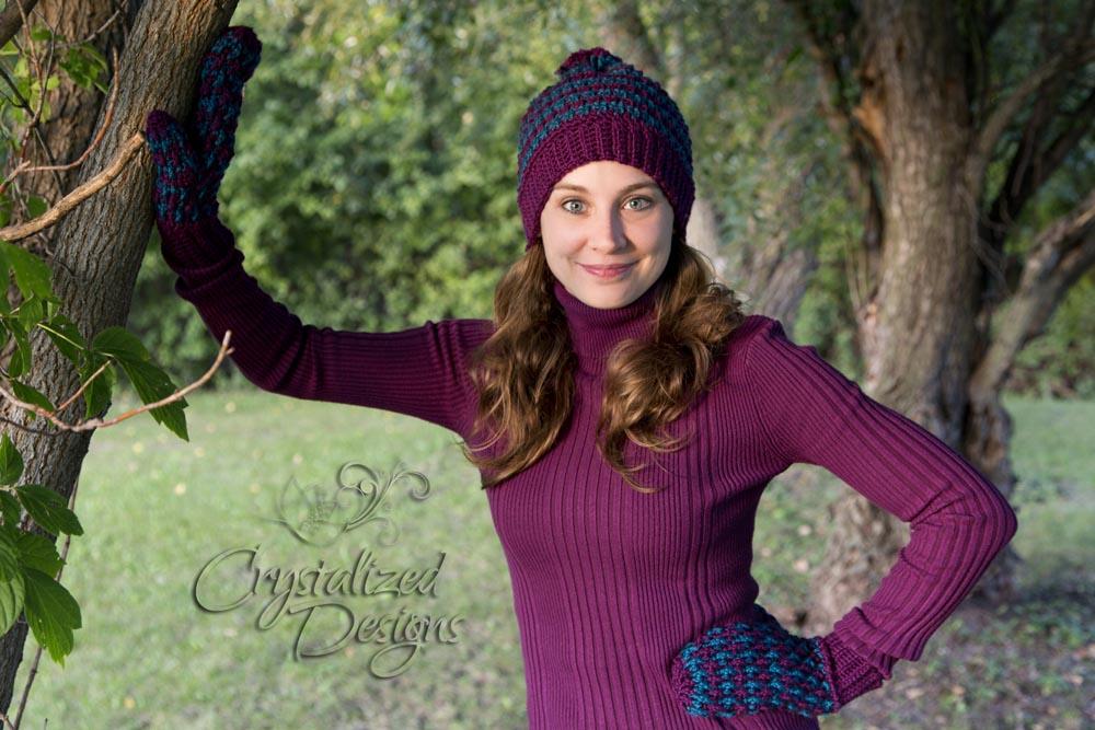 Ribbed Mitten Crochet Pattern