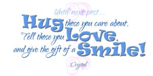hug tell smile