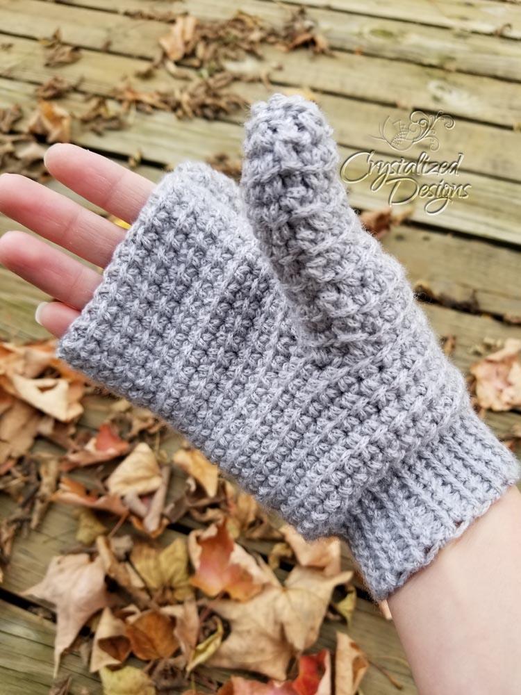 Linked Double Crochet Mittens Crochet Pattern