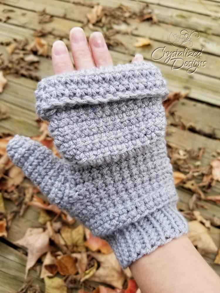 Linked Double Crochet Mittens Free Crochet Pattern