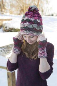 Shell Beanie and Wrist Warmers Crochet Pattern