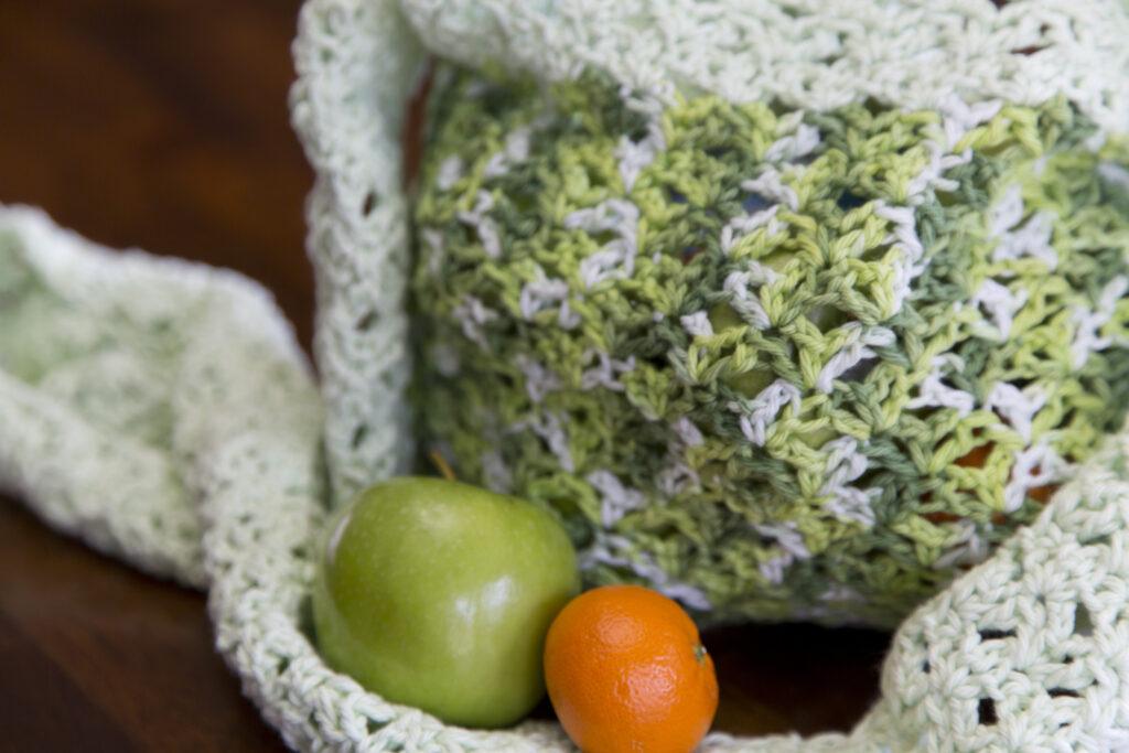 Garden Greens Market Bag Free Crochet Pattern