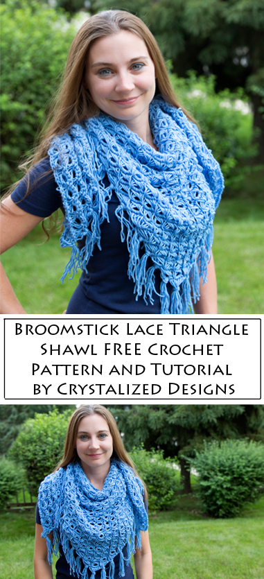 Broomstick Lace Triangle Shawl by Crystalized Designs and Chetnanigans the Groove Review