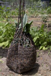 garden crochet bag