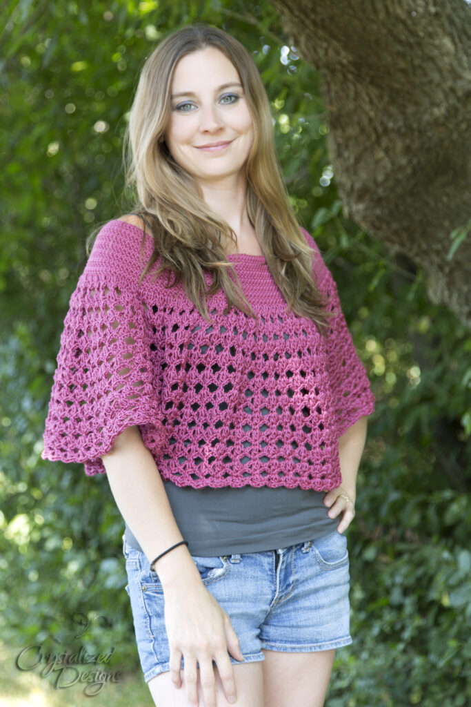 Essi Ponchette Crochet Pattern by Crystalized Designs