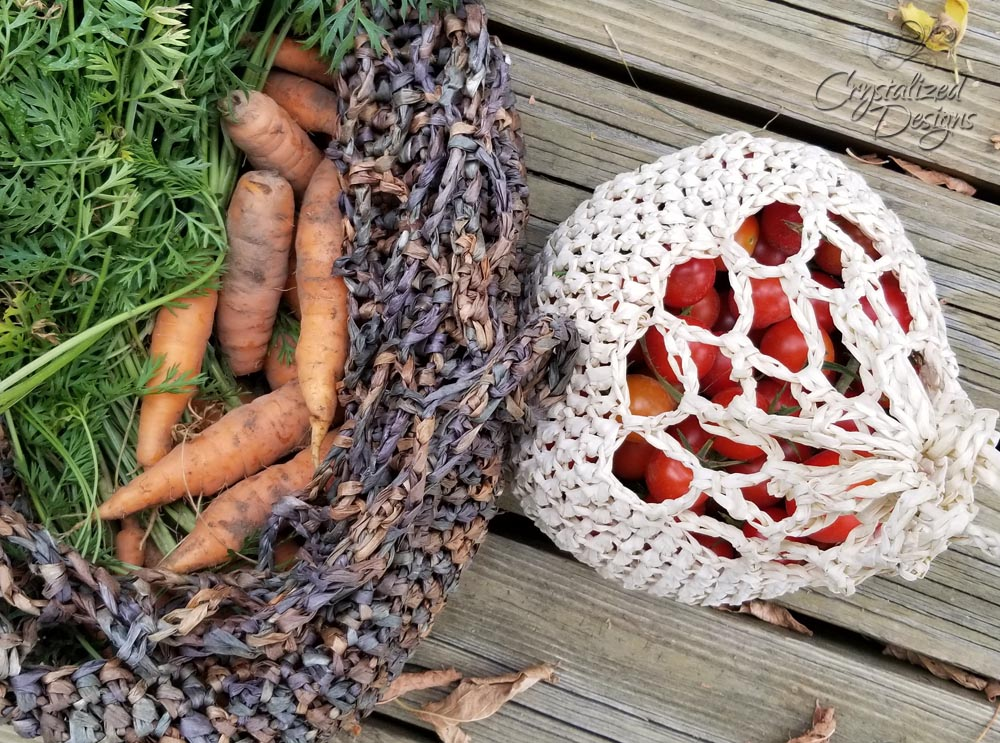 Mini Garden Vegetable Bag Crochet Pattern