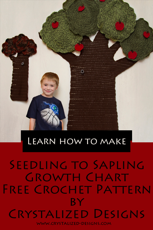 Seedling to Sapling Growth Chart Free Crochet Pattern by Crystalized Designs
