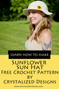 Sunflower Sun Hat Free Crochet Pattern by Crystalized Designs