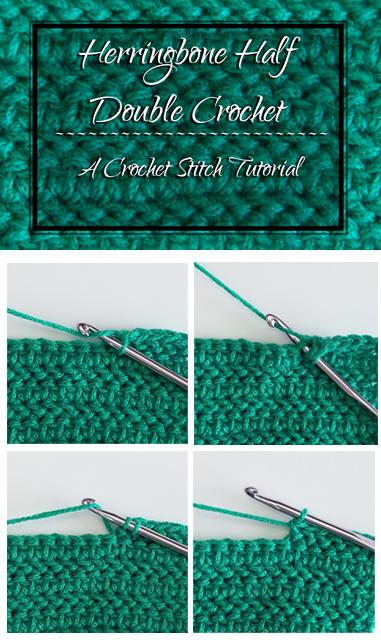 Herringbone Half Double Crochet Tutorial by Crystalized Designs