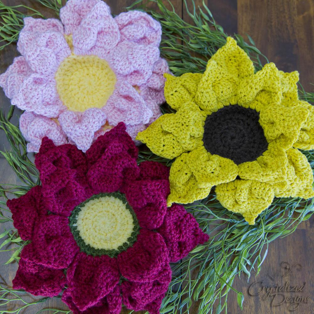 Crochet Flower Bowls