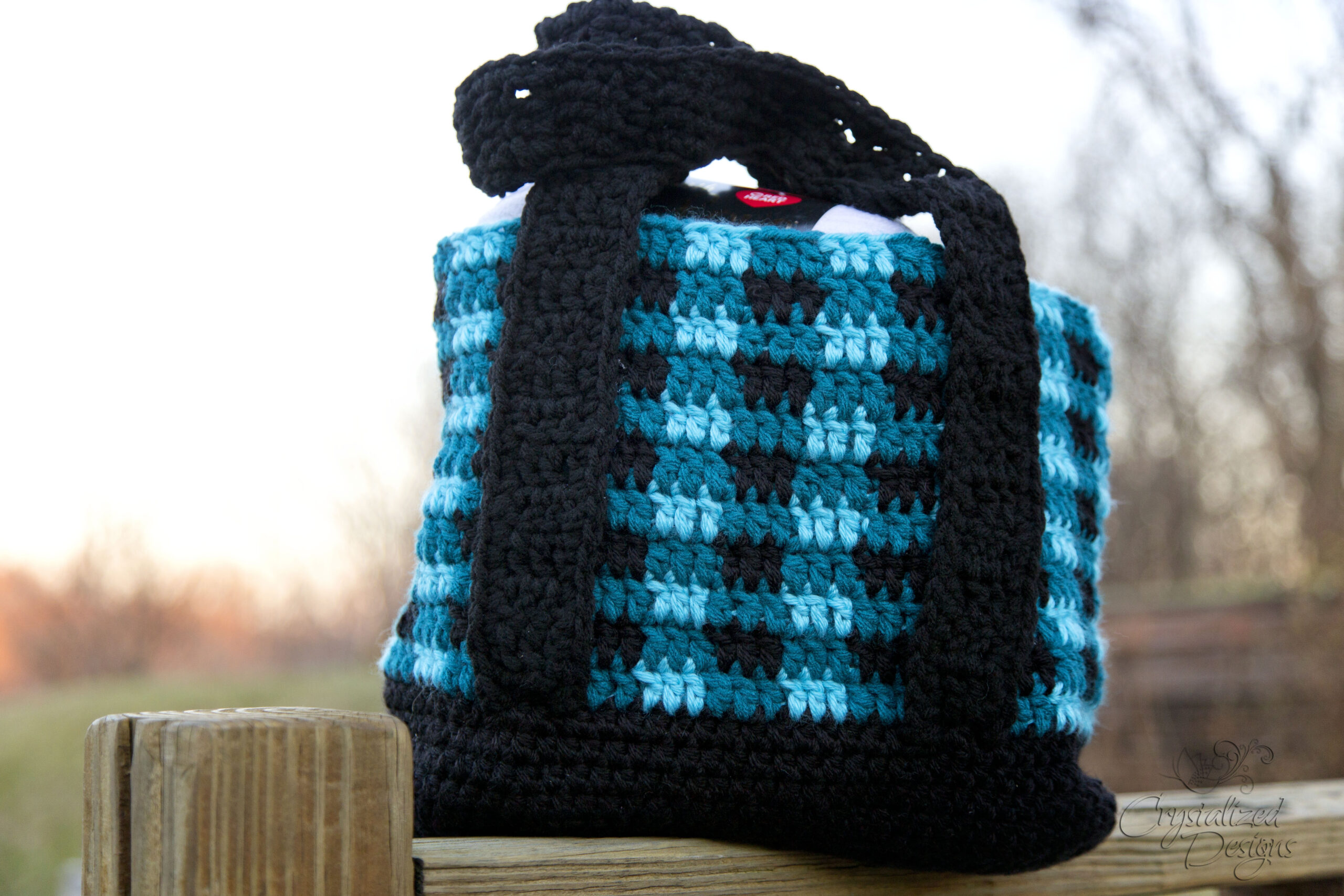 Buffalo Plaid Tote Bag Free Crochet Pattern
