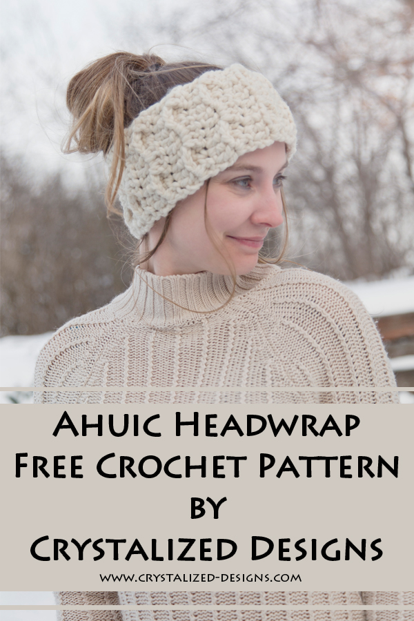 Ahuic Headwrap Free Crochet Pattern by Crystalized Designs