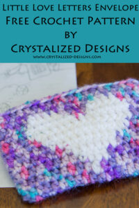 Little Love Letters Envelope Free Crochet Pattern by Crystalized Designs