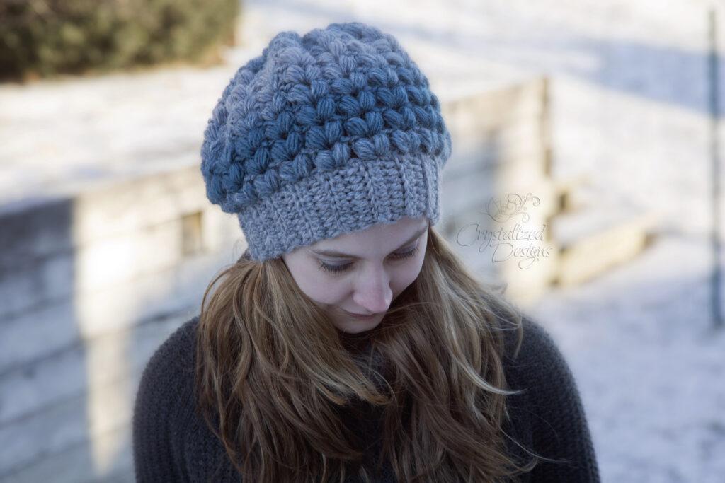 textured beanie free crochet pattern