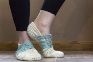 slipper socks free crochet pattern