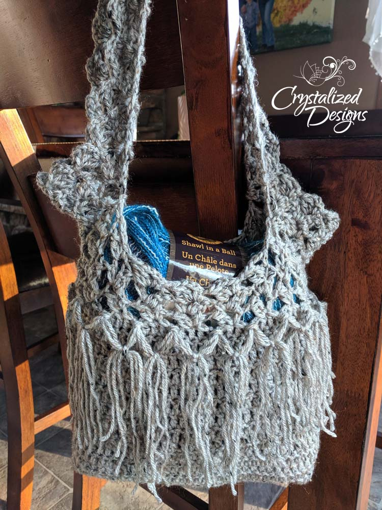 Boho Crochet Bag by Crystalized Designs