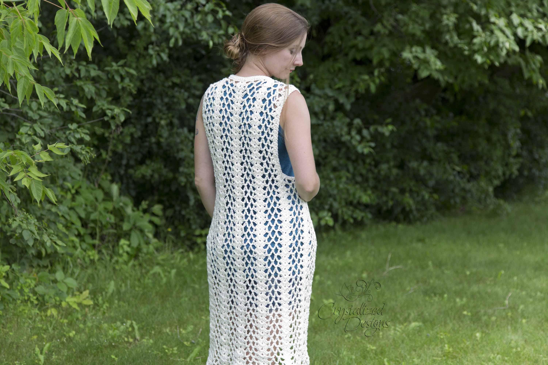Lonicera Vest Crochet Pattern by Crystalized Designs