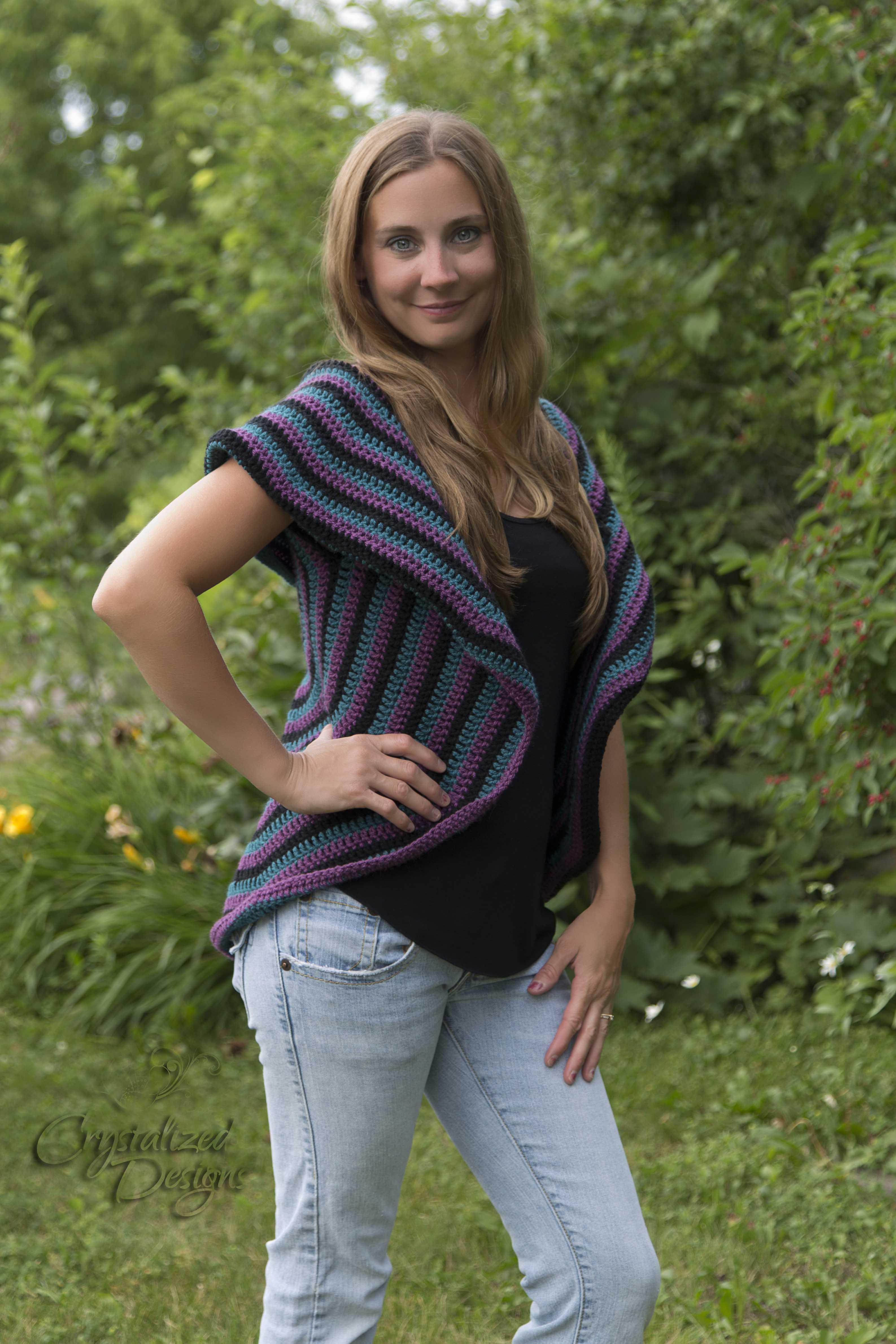 adult circle vest crochet pattern