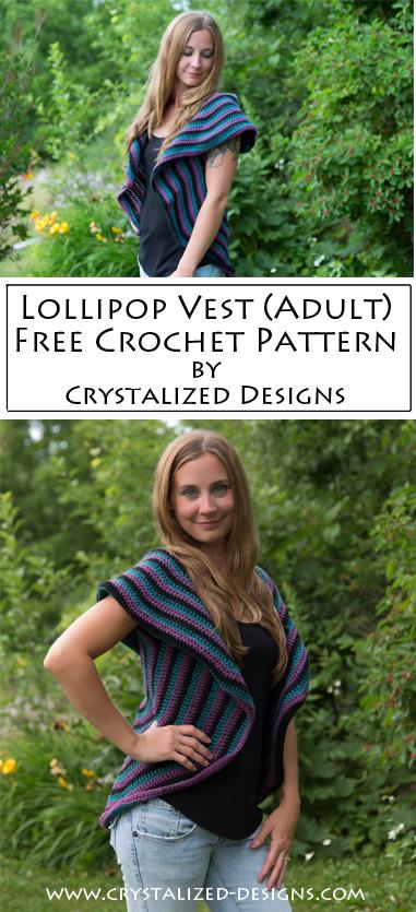 Lollipop Vest Free Crochet Pattern by Crystalized Designs