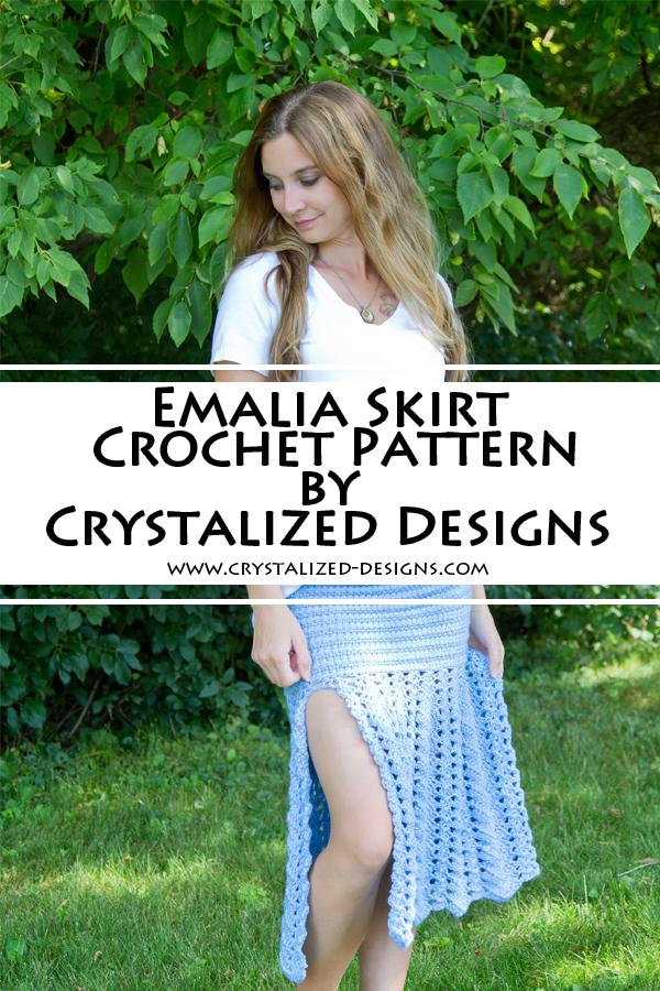 Emalia Skirt Crochet Pattern by Crystalized Designs