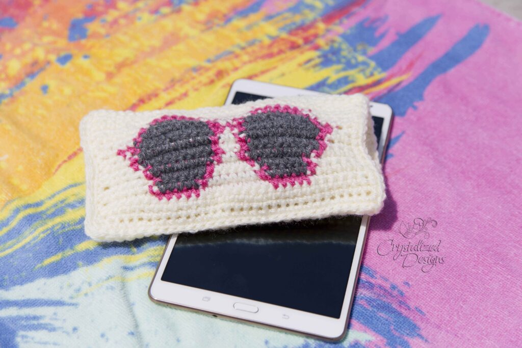 Sunglass Case Free Crochet Pattern by Crystalized Designs