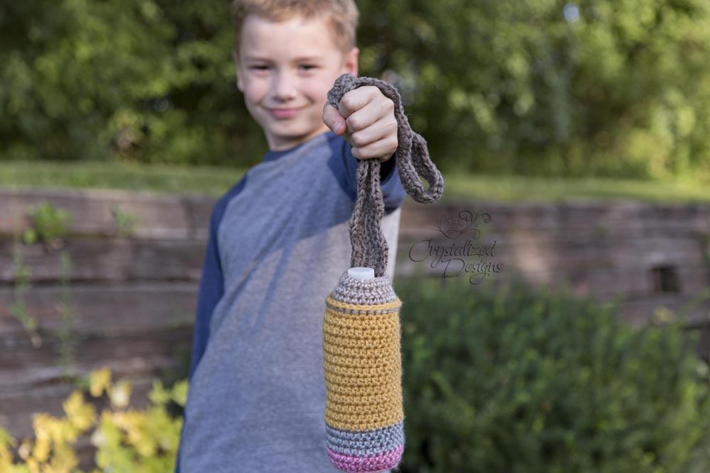 Pencil Water Bottle Cozy Crochet Pattern