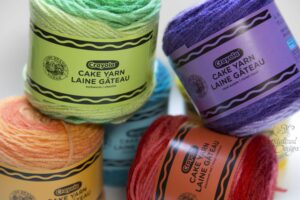 Lion Brand Crayola Cake Yarn Review by Crystalized Designs