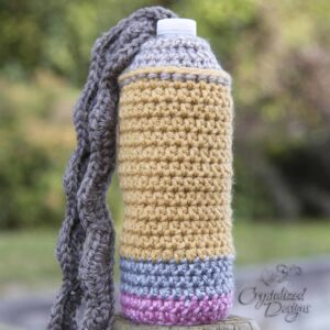 Pencil Water Bottle Cozy Free Crochet Pattern by Crystalized Designs
