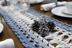 Hairpin Lace Table Runner Crochet Pattern and Tutorial by Crystalized Designs