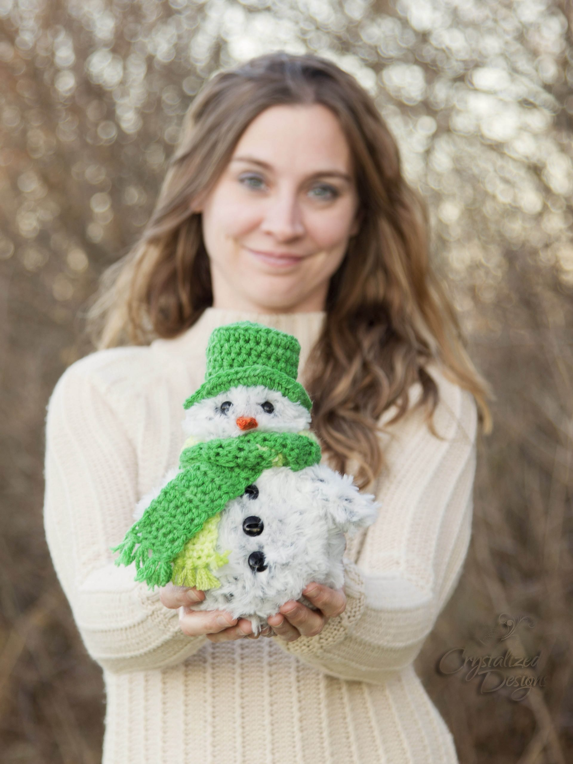 Cole the Kid Snowman Free Crochet Pattern by Crystalized Designs