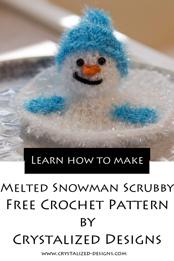 Melted Snowman Scrubby Free Crochet Pattern by Crystalized Designs