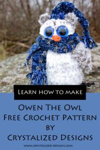 Owen the Owl Free Crochet Pattern by Crystalized Designs