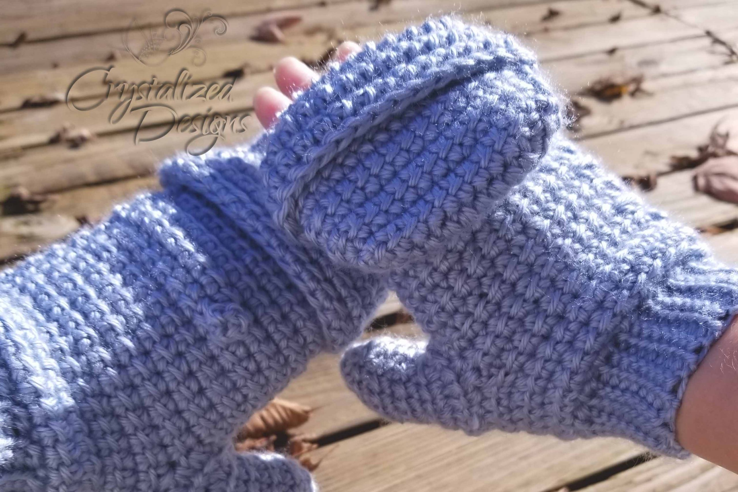 Linked Flop Top Mittens Free Crochet Pattern by Crystalized Designs