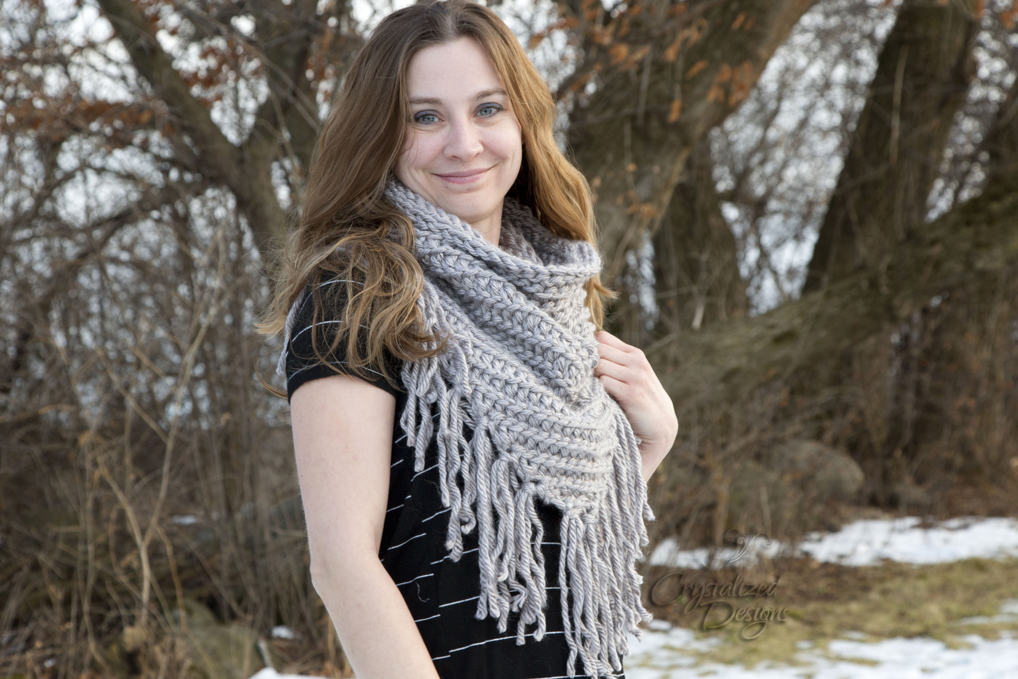 Kellen Cowl Free Crochet Pattern by Crystalized Designs