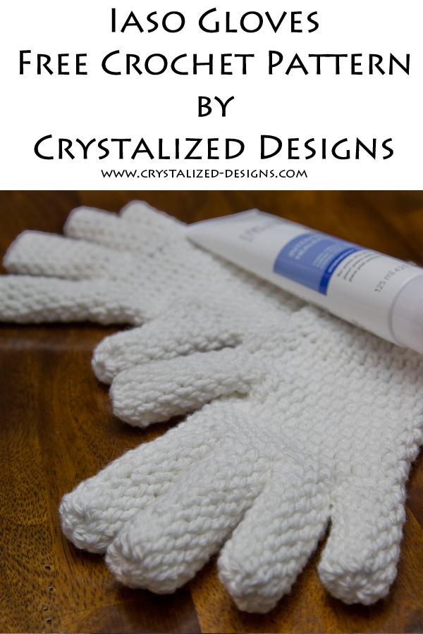 Iaso Gloves Free Crochet Pattern by Crystalized Designs