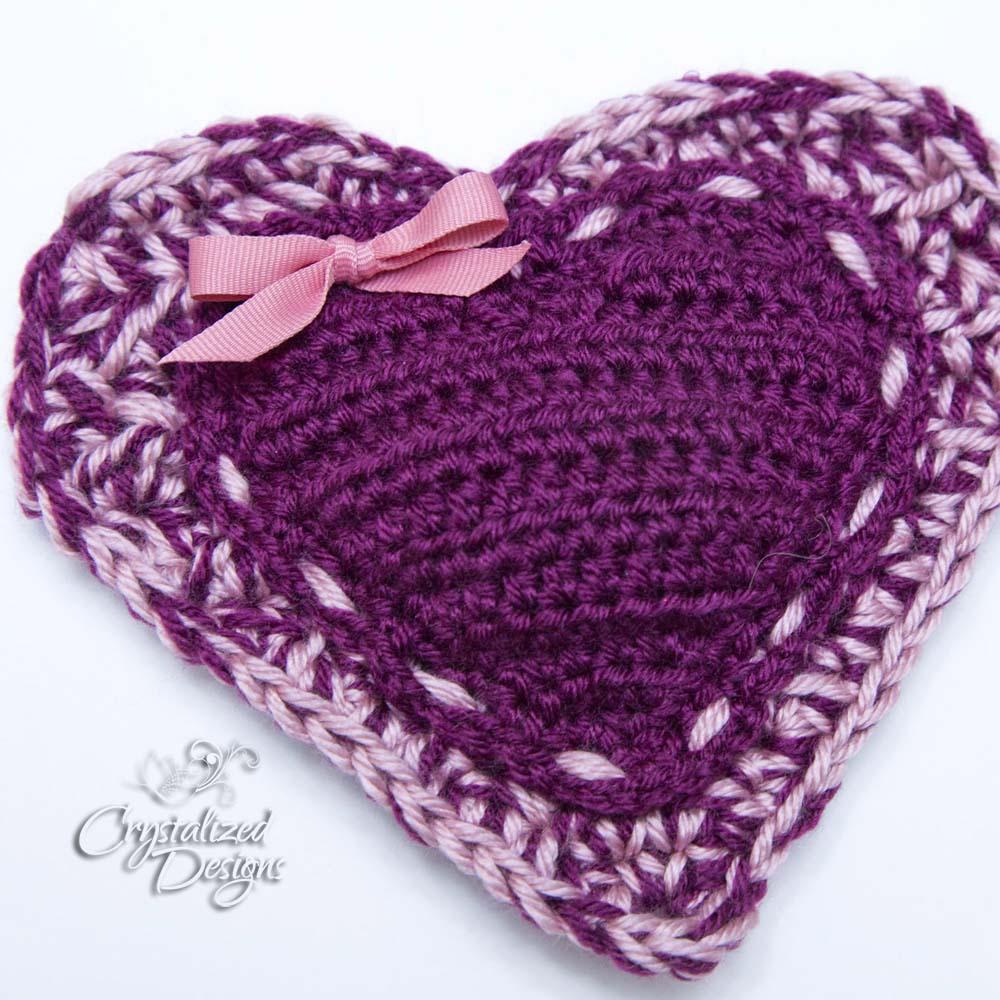 Heart Pouch Crochet Pattern