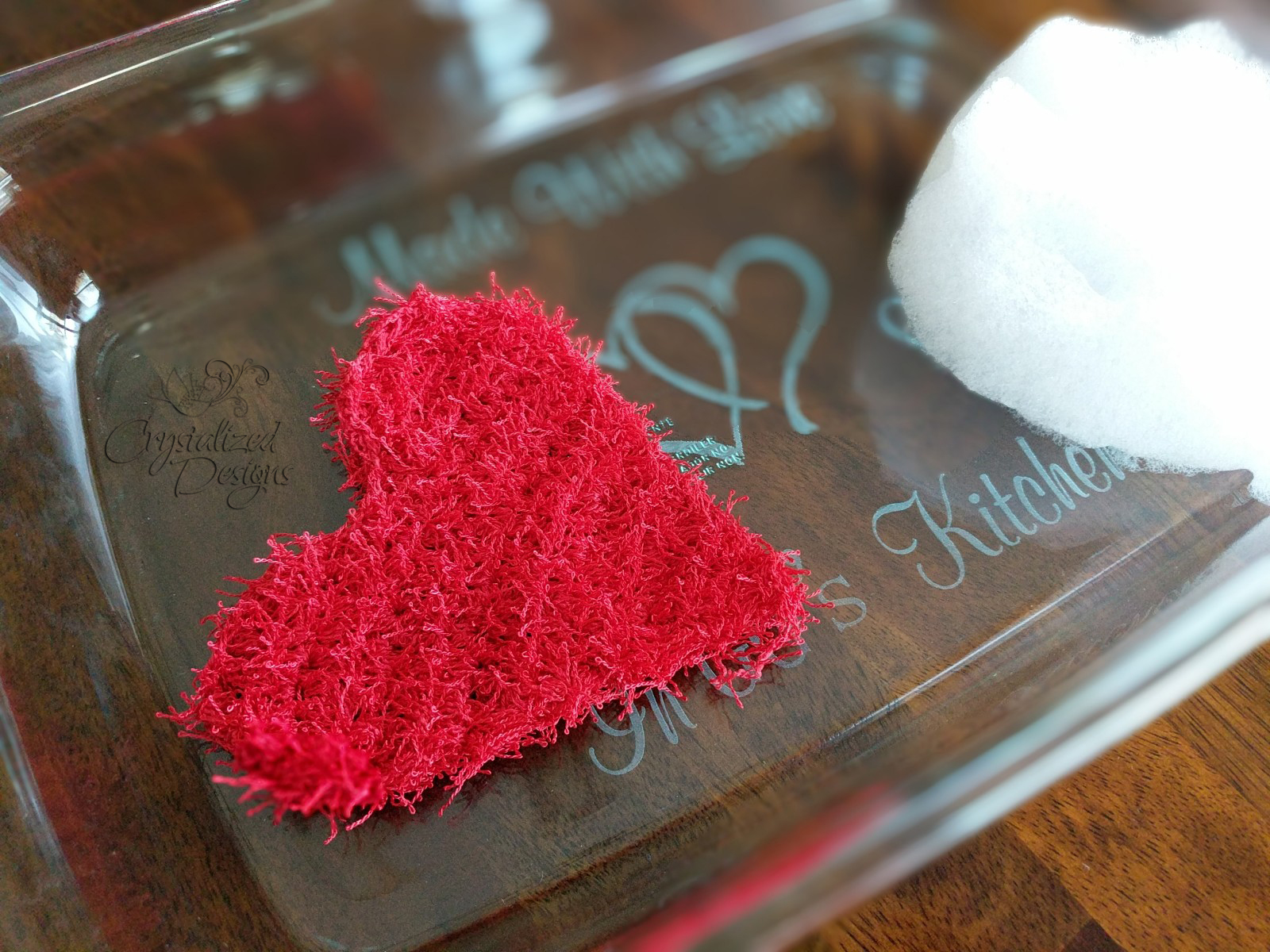 Heart Scrubby Free Crochet Pattern by Crystalized Designs