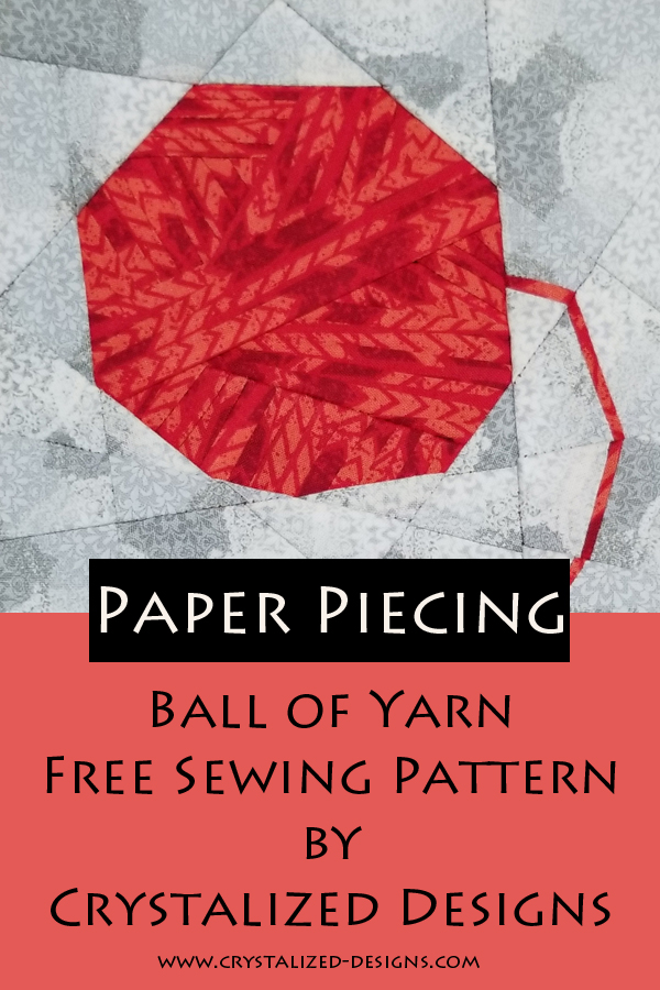 Ball of Yarn Paper Piecing Sewing Pattern by Crystalized Designs