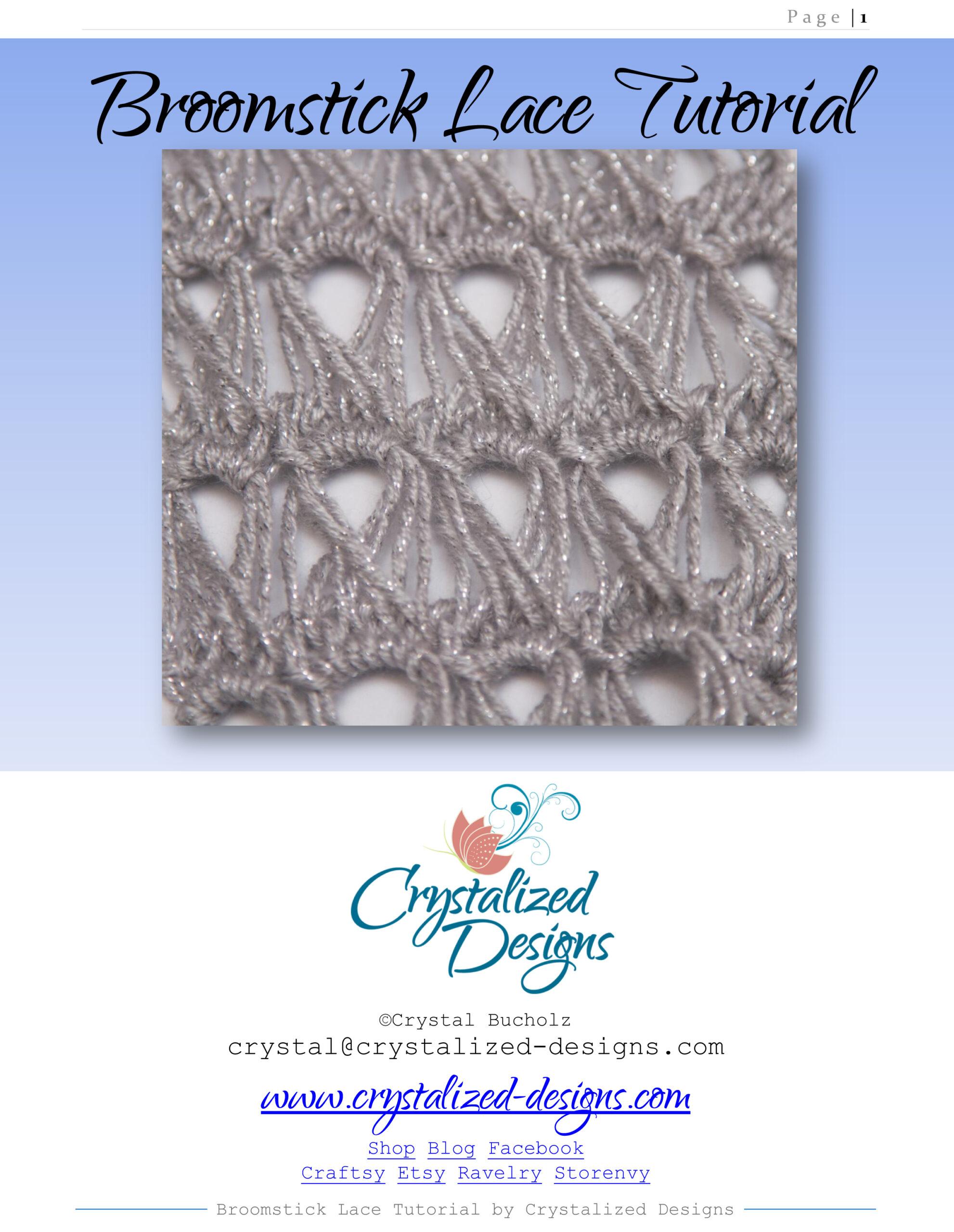 broomstick lace crochet tutorial
