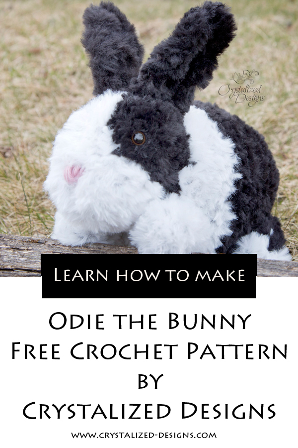 Odie the Bunny Free Crochet Pattern by Crystalized Designs
