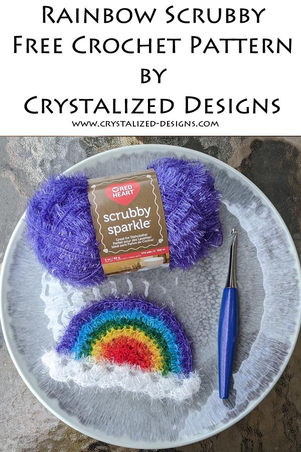 Rainbow Scrubby Free Crochet Pattern by Crystalized Designs