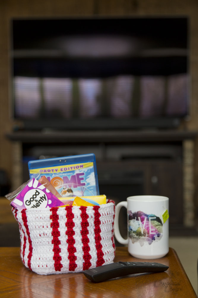 Movie Night Treat Basket Free Crocet Pattern
