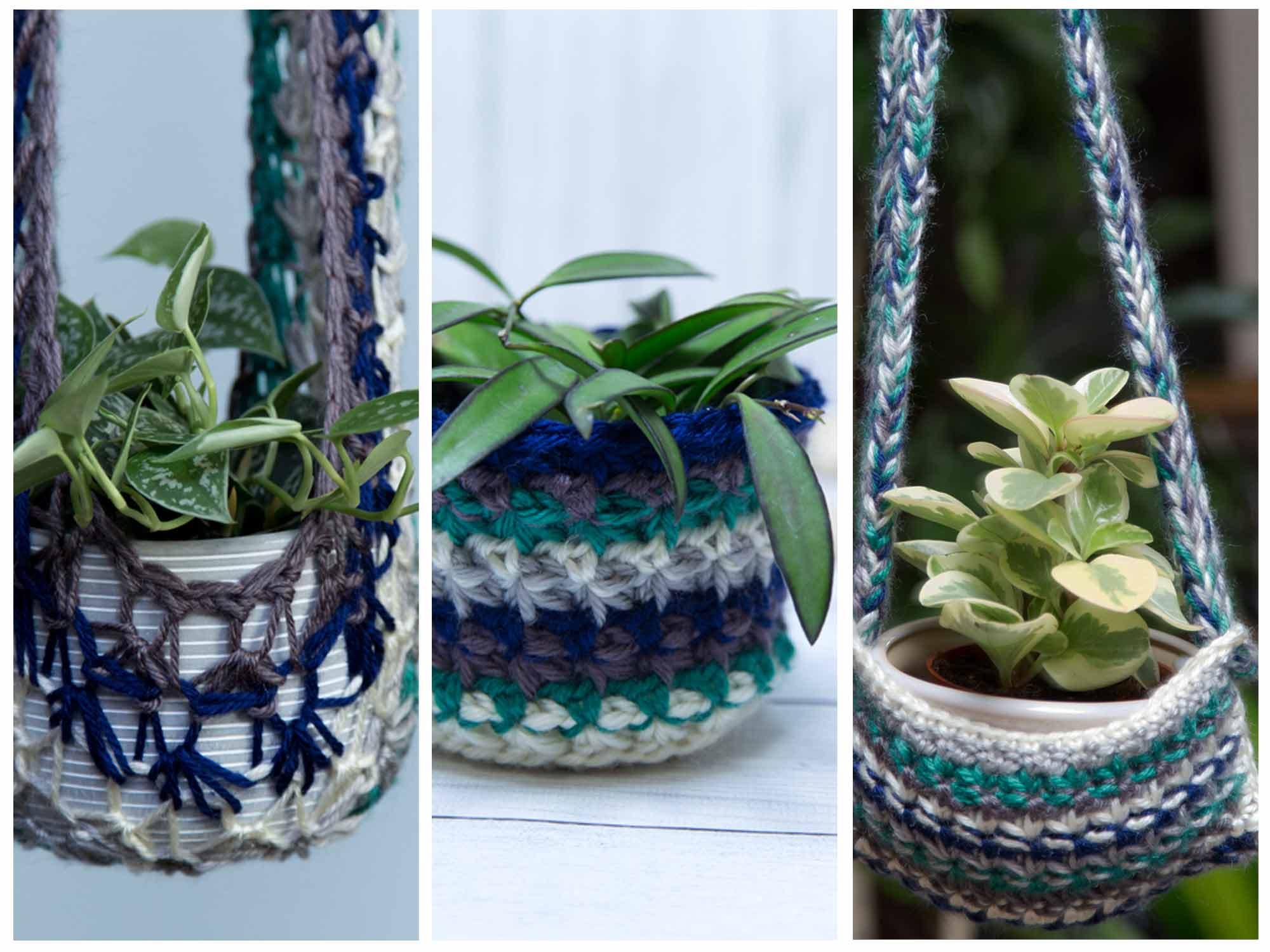 Stash Busting Planter Trio Free Crochet Patterns